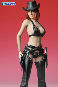 1/6 Scale black Sexy Cowgirl Clothing Set