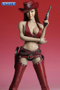 1/6 Scale red Sexy Cowgirl Clothing Set