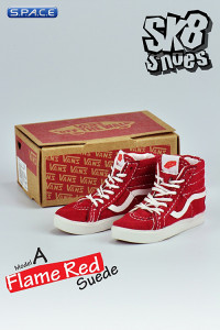 1/6 Scale Flame Red Suede Shoes