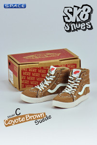 1/6 Scale Coyote Brown Suede Shoes