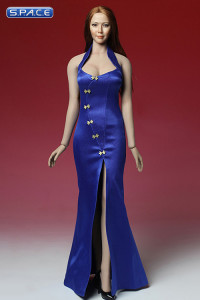 1/6 Scale blue Cheongsam Dress Set