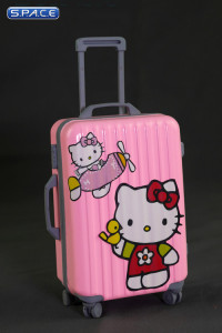 1/6 Scale pink Travel Trolley draw bar box 2.0