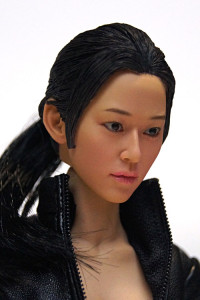 1/6 Scale Asian Female Head Sculpt with black Ponytail