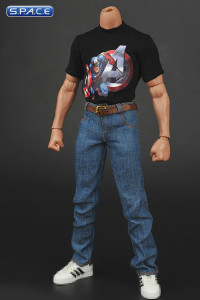 1/6 Scale Captain America T-Shirt and Jeans Set