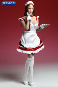 1/6 Scale red Maid Outfit Set