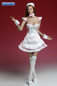 1/6 Scale pink Maid Outfit Set
