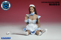 1/6 Scale blue Maid Outfit Set