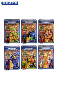 Complete Set of 6: MOTU ReAction Figures Wave 2 (Masters of the Universe)