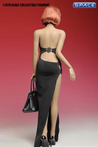 1/6 Scale black Long Dress Set