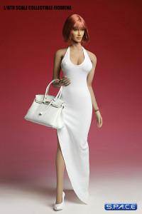 1/6 Scale white Long Dress Set