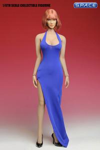 1/6 Scale purple Long Dress Set