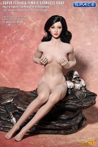 1/6 Scale Seamless Female pale Body removable feet / medium breast / headless (Super-Flexible)