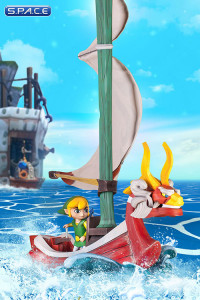 Link on the King of Red Lions Statue (The Legend of Zelda: The Wind Waker)