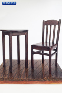 1/6 Scale Furniture Floor Set B dark brown