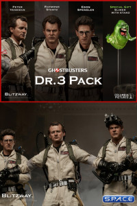 1/6 Scale Dr. 3-Pack (Ghostbusters)