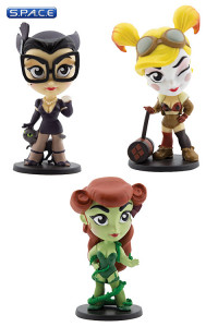 Set of 3: DC Bombshells Sirens Vinyl Figures (DC Comics)