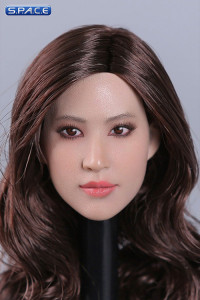 1/6 Scale European / American Female Head Sculpt (curly long brunette hair)