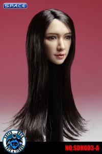 1/6 Scale Female Head Sculpt (black hair)