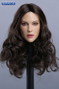 1/6 Scale European / American Female Head Sculpt (curly black hair)