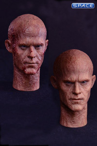 1/6 Scale Burned Male Head Sculpts Set of 2