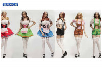 1/6 Scale red Dirndl Cosplay Clothing Set