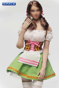 1/6 Scale green Dirndl Cosplay Clothing Set