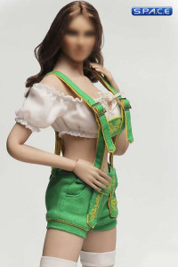 1/6 Scale green shorts Cosplay Clothing Set