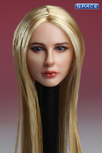 1/6 Scale Female Head Sculpt (glossy long blonde hair)