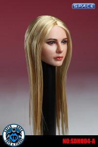 1/6 Scale Female Head Sculpt (glossy long blonde hair)
