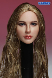 1/6 Scale Female Head Sculpt (blonde wet-look hair)
