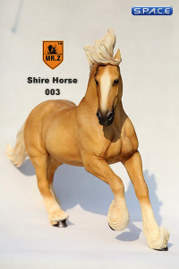 1/6 Scale beige Shire Horse