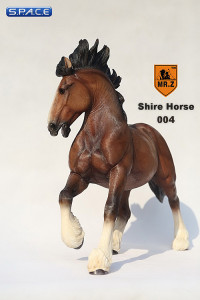 1/6 Scale brown Shire Horse