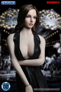 1/6 Scale Female Head Sculpt (brunette long Hair)