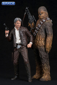 1/10 Scale Han Solo & Chewbacca 2-Pack ARTFX+ (Star Wars: The Force Awakens)