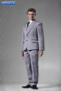 1/6 Scale Male Standard Western Style Suit grey