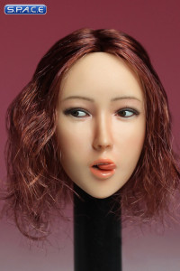 1/6 Scale Female Head Sculpt with tongue (short red hair)