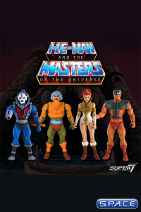 Complete Set of 4: MOTU Club Grayskull Figures Wave 1 (He-Man and the Masters of the Universe)