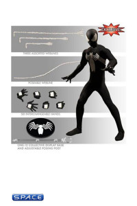 1/12 Scale Black Suit Spider-Man Previews Exclusive One:12 Collective (Marvel)