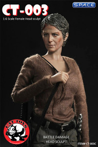 1/6 Scale Carol battle damaged Head Sculpt