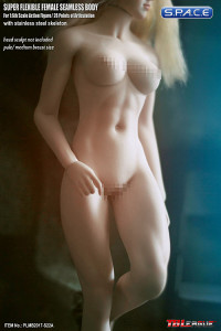1/6 Scale Seamless Female pale Body removable feet / strong legs / medium breast / headless