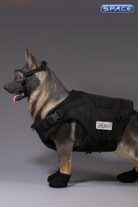 1/6 Scale black Tactical K9 Body Armor