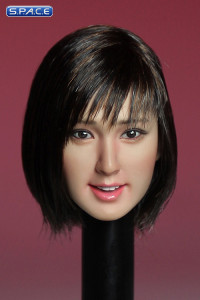 1/6 Scale Female Asian Head Sculpt (black short Hair)