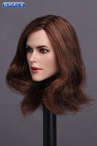 1/6 Scale Keira Head Sculpt (long brown hair)