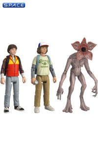Dustin, Will & Demogorgon ReAction Figure 3-Pack (Stranger Things)