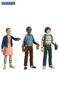 Mike, Eleven & Lukas ReAction Figure 3-Pack (Stranger Things)