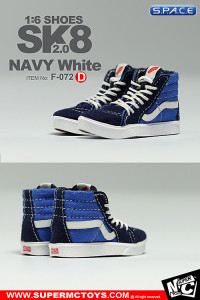 1/6 Scale Navy White Shoes