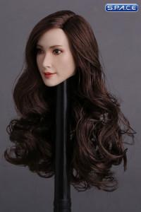 1/6 Scale Tomoko Head Sculpt (curly long brunette hair)