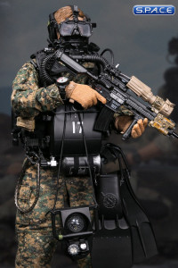 1/6 Scale Marine Force Recon Combat Diver Woodland Marpat