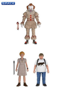 2017 Pennywise, Ben & Beverly 3-Pack (Stephen King's It)