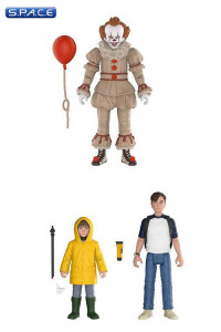 2017 Pennywise, Bill & Georgie 3-Pack (Stephen King's It)